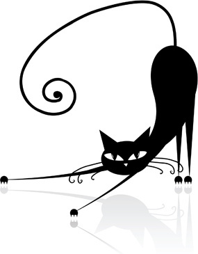 285x365 Black cat clip art free vector download free for