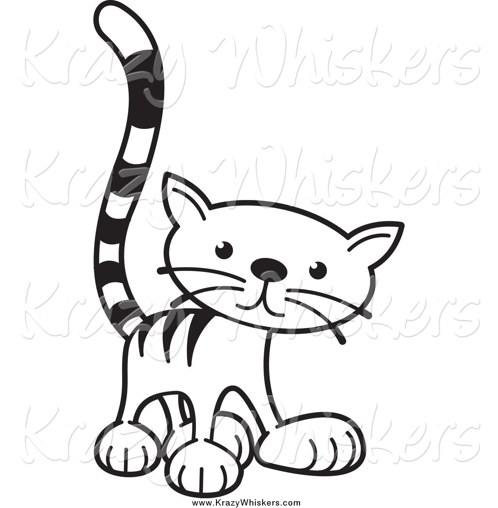 1024x1044 Critter Clipart Of A Black And White Tabby Cat Standing By Lal