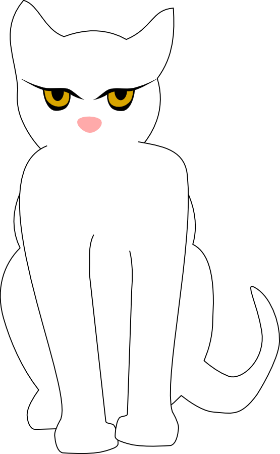 555x899 » Clip Art » cat black white
