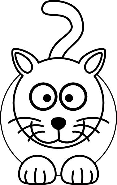 378x598 Black And White Cat Clip Art