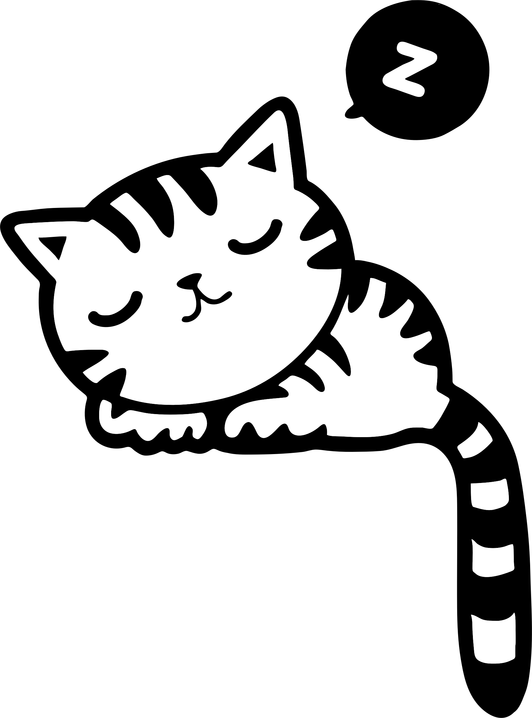 1728x2334 Black Cat Clipart Cat Sleep