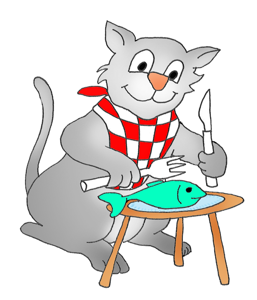 505x591 Cat Eating Mouse Clipart