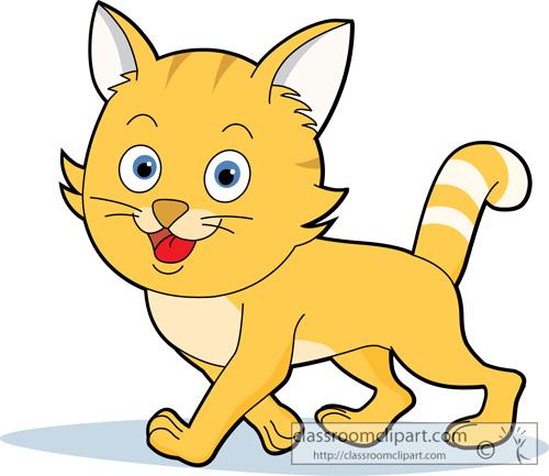 500x433 Cat Clip Art Vector Free Clipart Images 2