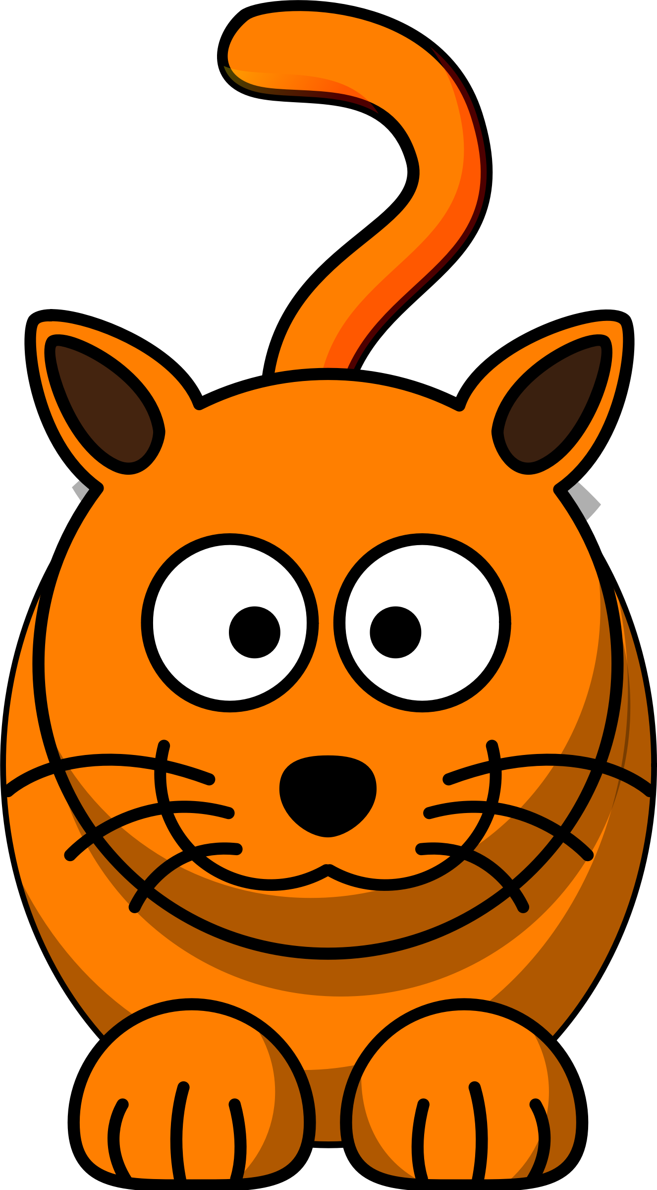 1326x2399 Cat Clipart Orange Cat