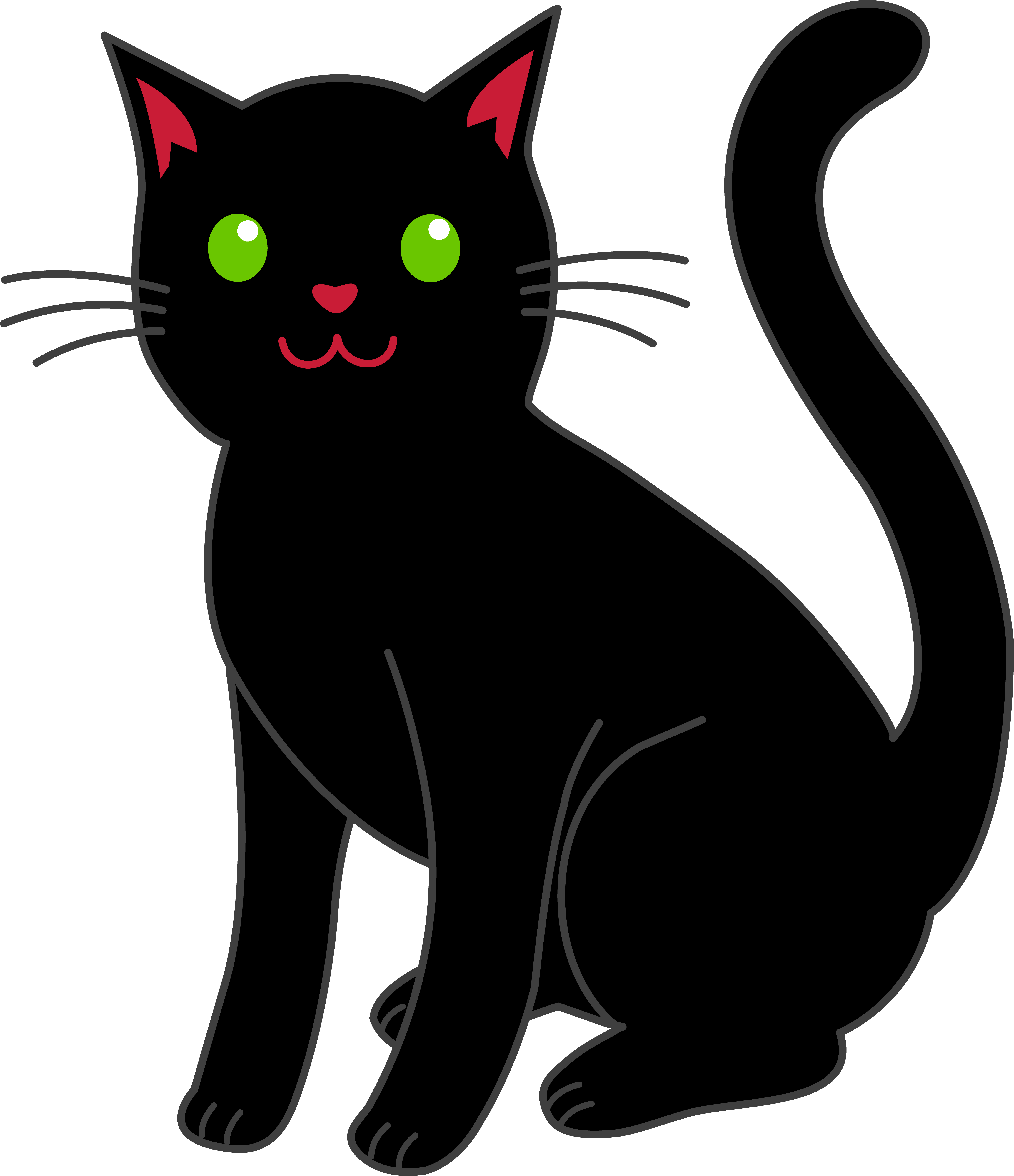 5476x6349 Simple Black Halloween Cat