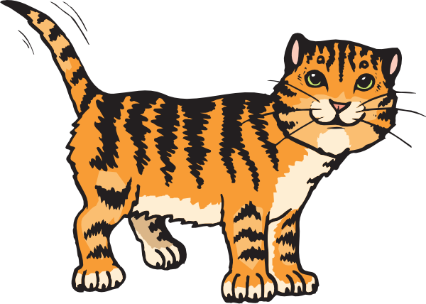 600x428 Tiger Cat Clip Art