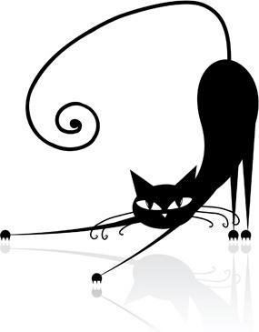 285x365 Black Cat Clip Art Free Vector Download (214,188 Free Vector)