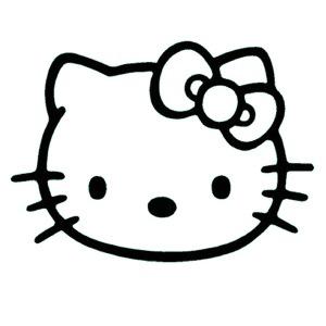 300x300 Cat Black And White Hello Kitty Clipart Black And White Google