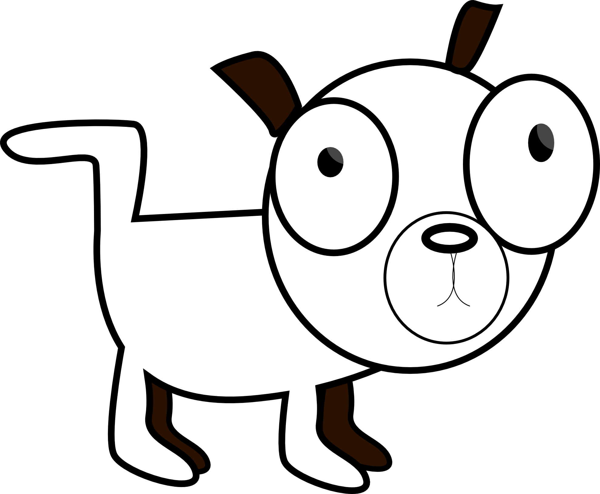 1979x1632 Dog Black And White Black And White Dog Cat Clipart