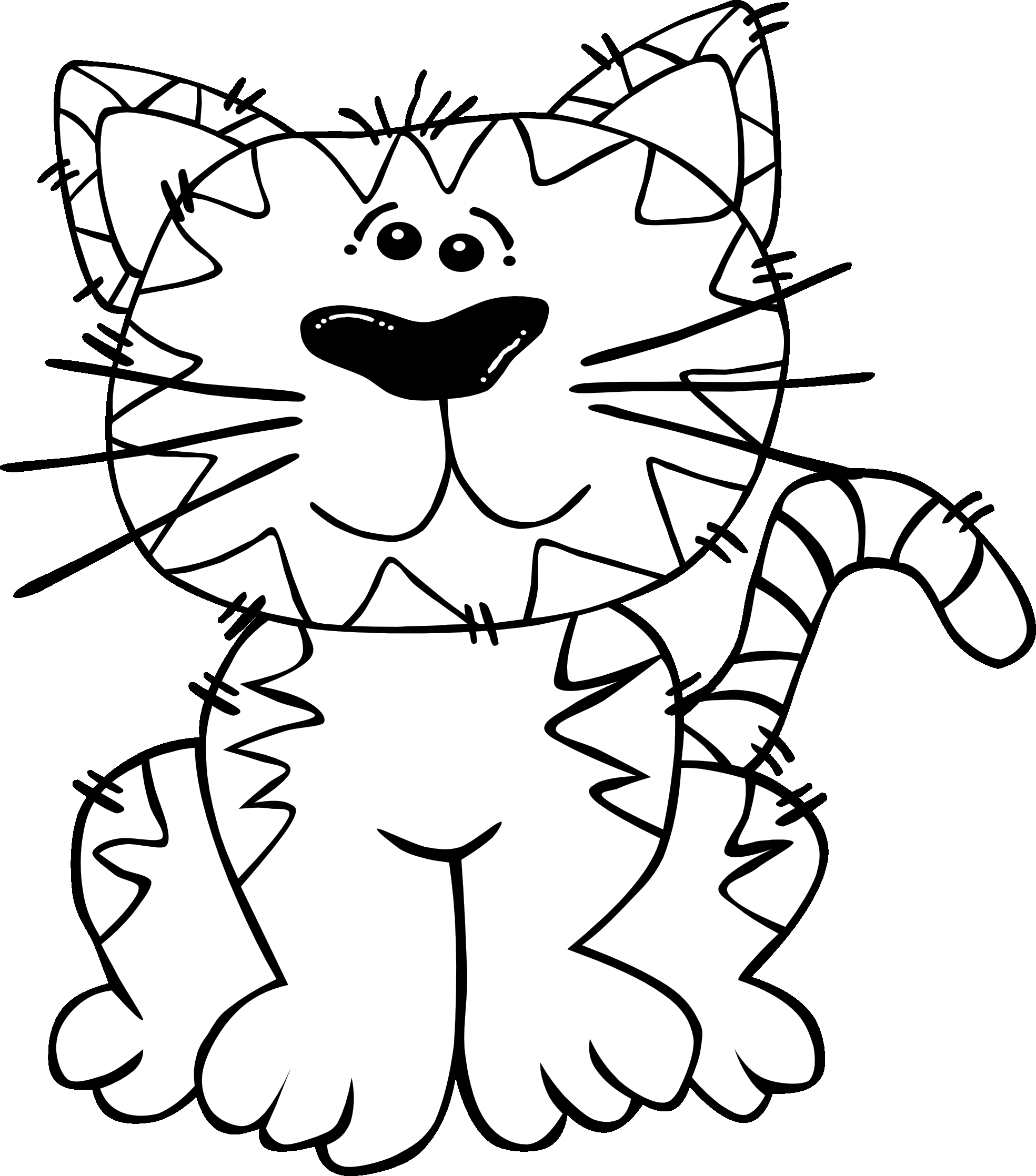 Cat Clipart Black And White Free