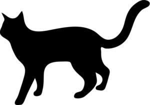 300x210 Black Cat Clipart Cat Outline