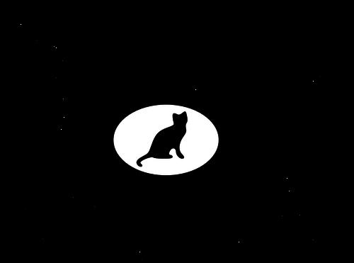 500x371 19923 Black Cat Silhouette Clip Art Free Public Domain Vectors