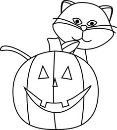 236x263 Black And White Halloween Cat Clipart