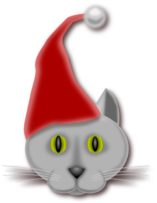 230x297 Christmas Cat Clip Art