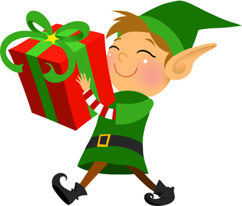 340x290 Christmas Elf Clip Art