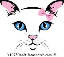 217x194 Cat Face Clip Art