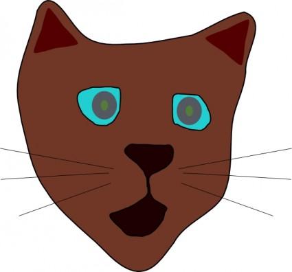 425x396 Cat Face Clip Art Download