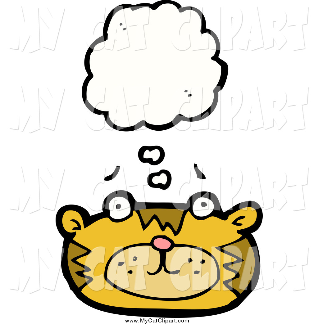 1024x1044 Clip Art Of A Thinking Cat Face By Lineartestpilot