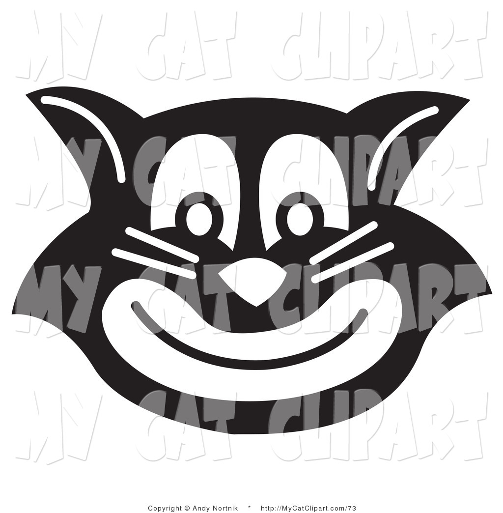 1024x1044 Clip Art Of An Evil Black Cat Smiling By Andy Nortnik