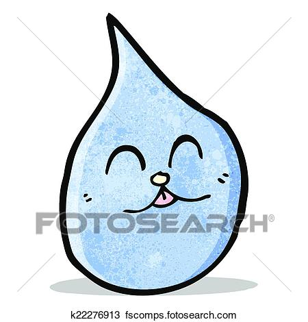 450x470 Clipart Of Funny Water Drop With Cat Face K22276913