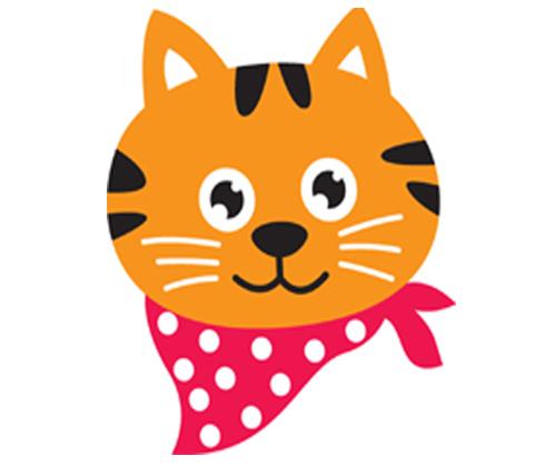 500x419 Kitten Clipart Head