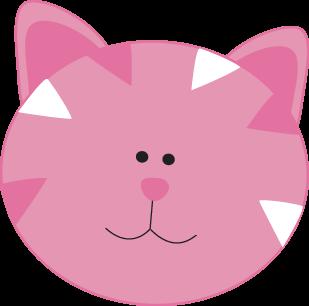 309x306 Pink Cat Face Clip Art