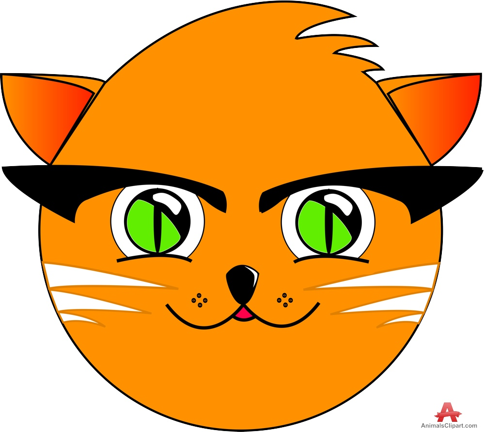 999x892 Stylist Cat Cartoon Face Clipart Free Clipart Design Download