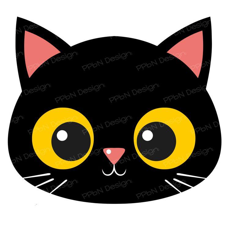 736x736 Black Cat Clipart Cat Face