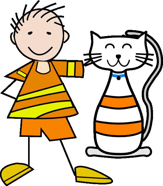 522x598 Cat And Boy Clip Art