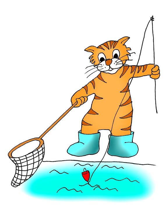 570x709 Funny Fishing Clipart Kid 2