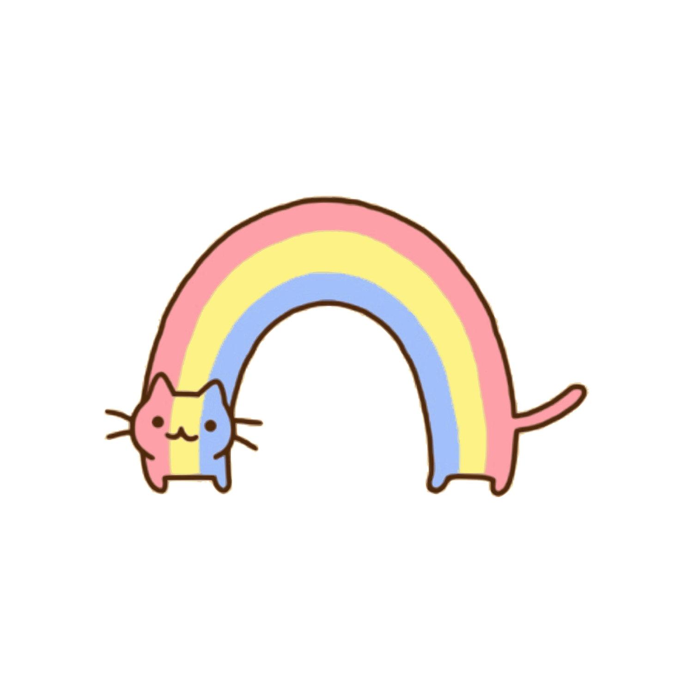 1500x1500 Rainbow Cat Cat Clip Art Cat Clipart Rainbow Clip Art