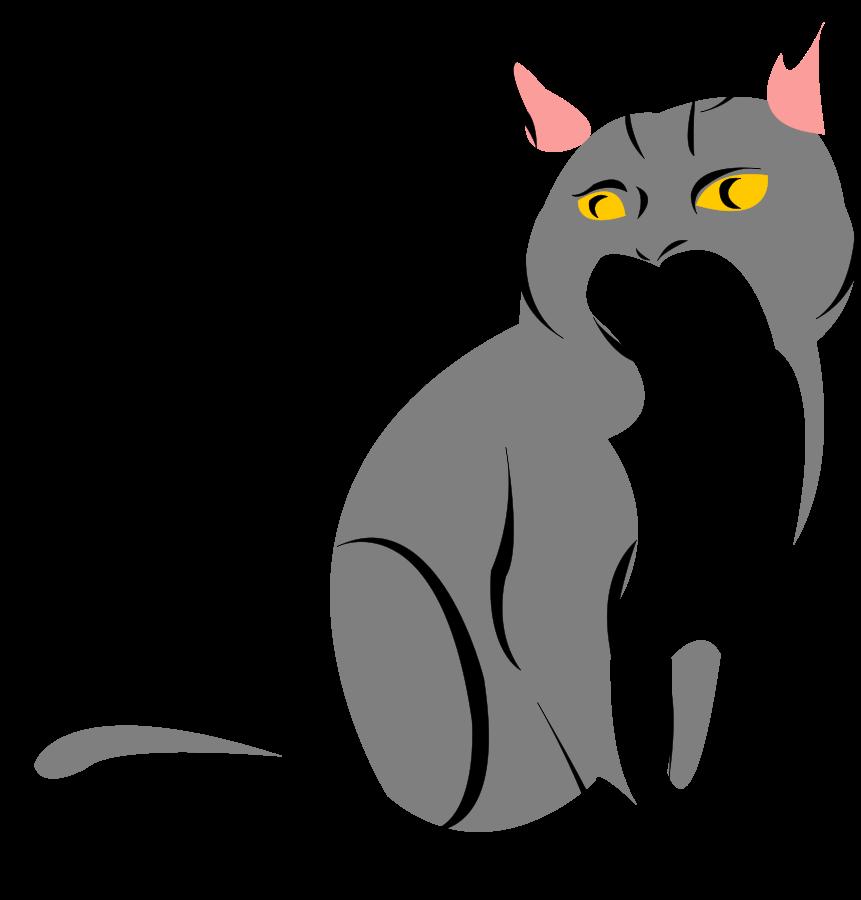 861x900 Black Cat Clipart Gray Cat