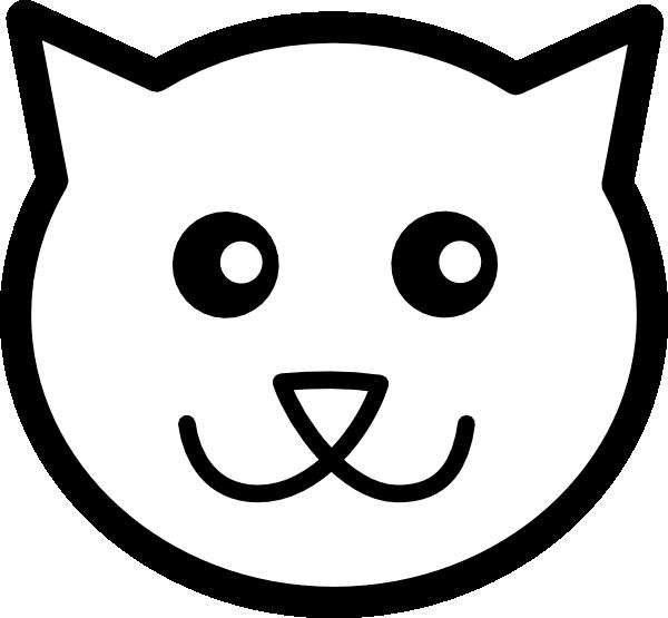 600x555 Cat Line Art Clip Art