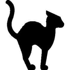 236x236 Halloween Cat Silhouette Clip Art Clipart