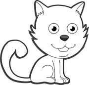 180x172 Kitten Clipart Outline