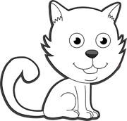 180x172 Kitten Clipart Outline