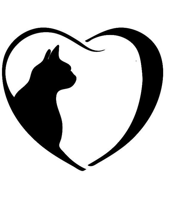 570x675 Black Cat Clipart Cat Outline
