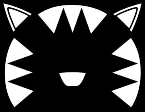 299x231 Totetude Cat Outline Face Clip Art