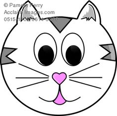 236x234 Cartoon Cat Face Clip Art Gatos Cat Face, Cat Cat