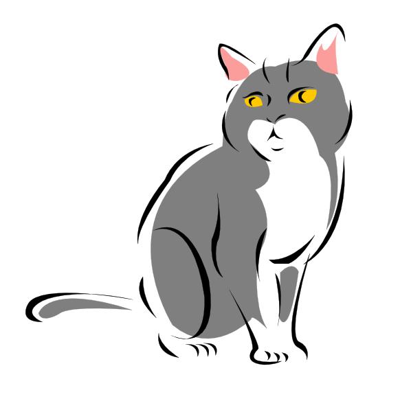 582x597 Cat Png, Svg Clip Art For Web