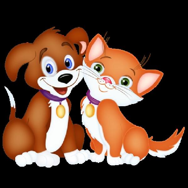 600x600 Cute Dog And Cat Clip Art