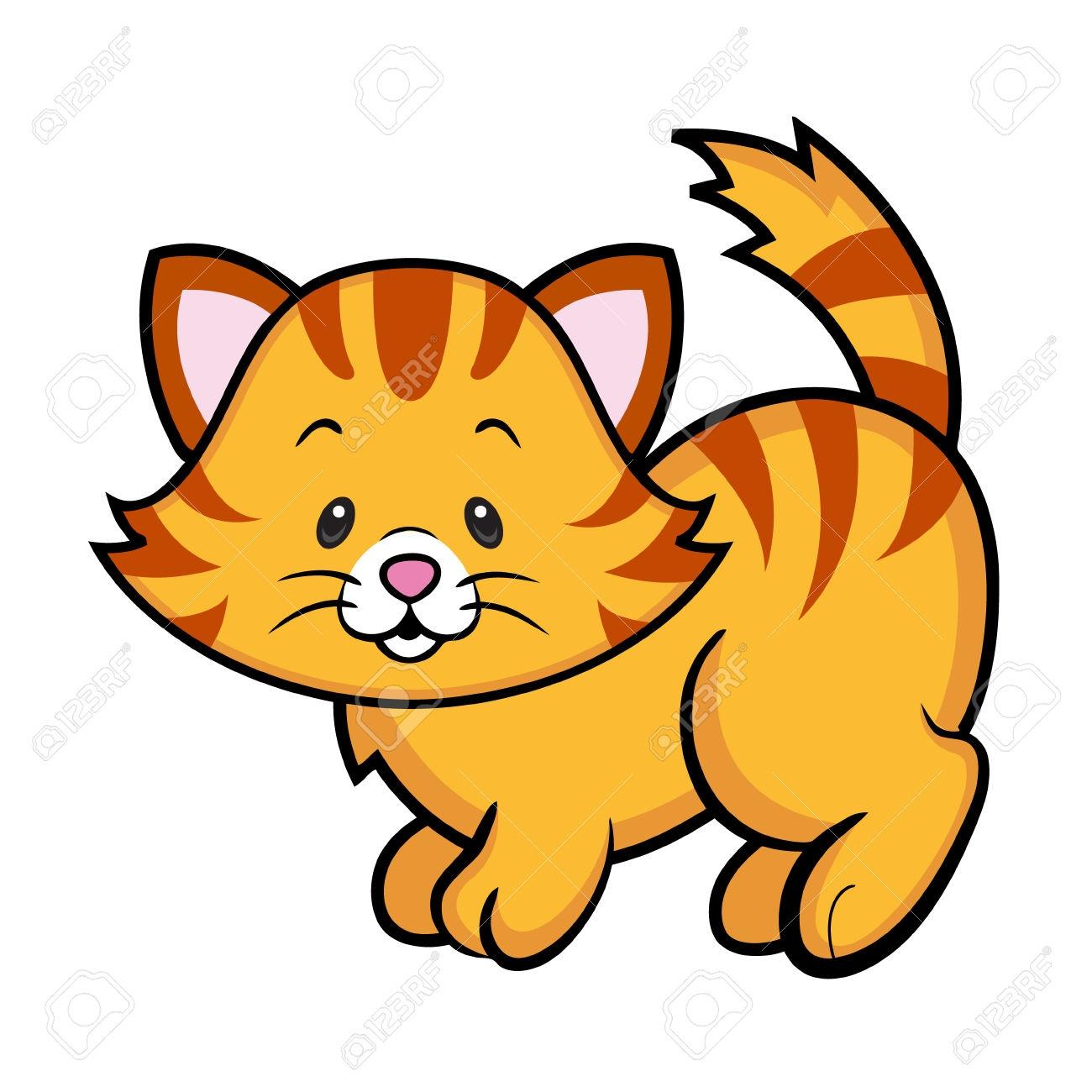 1300x1300 Kitten Clipart Striped Cat