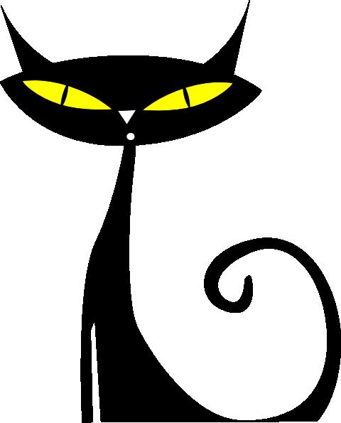 480x595 Black Cat Clip Art