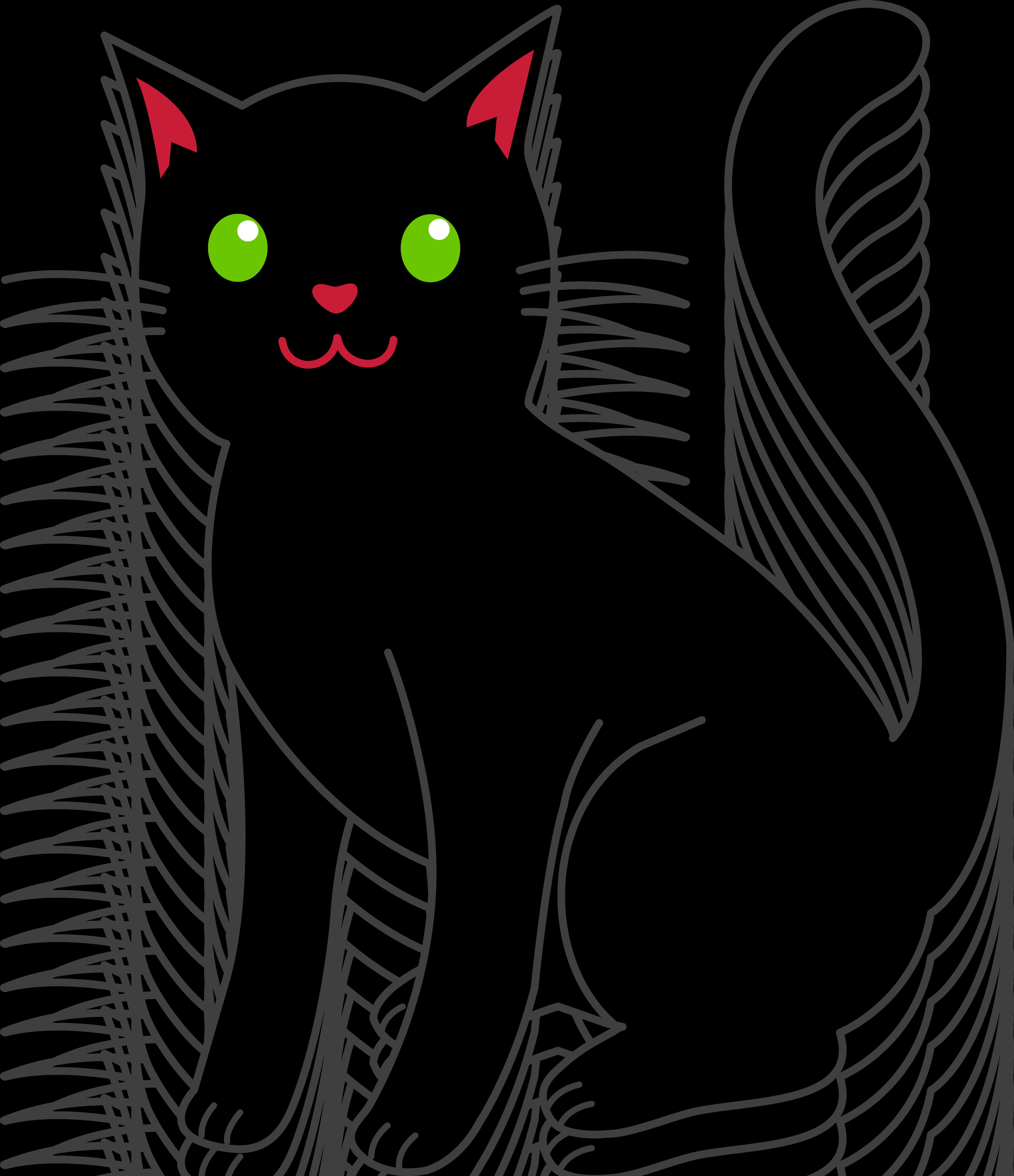 5476x6349 Black Cat Clipart Png