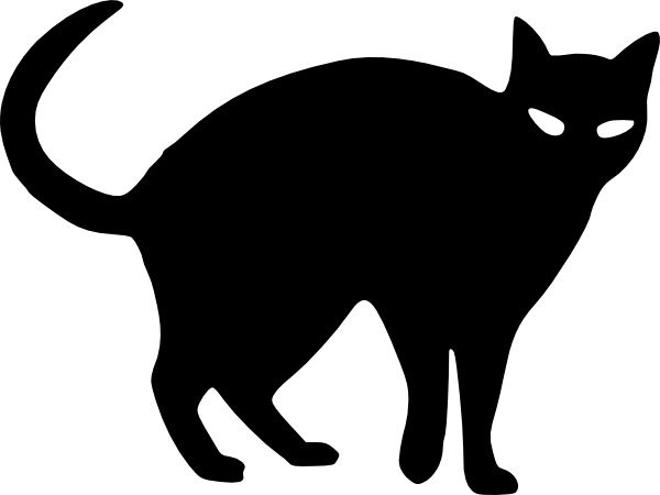 600x450 Cat Silhouette Vector Clipart
