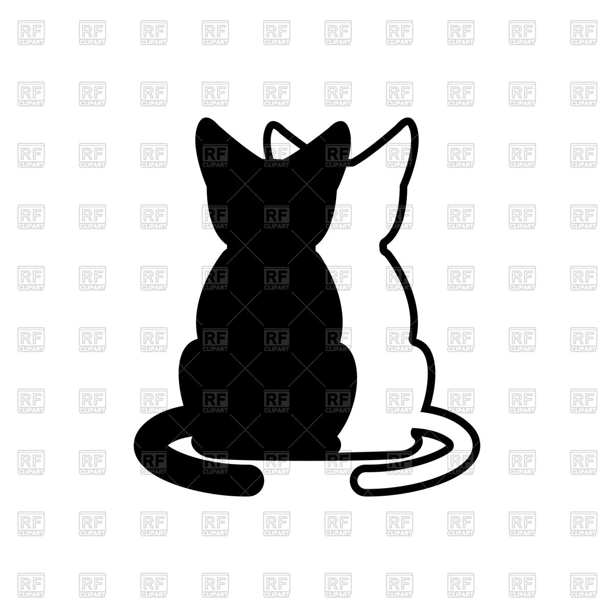 1200x1200 Cat Lovers Embrace Royalty Free Vector Clip Art Image