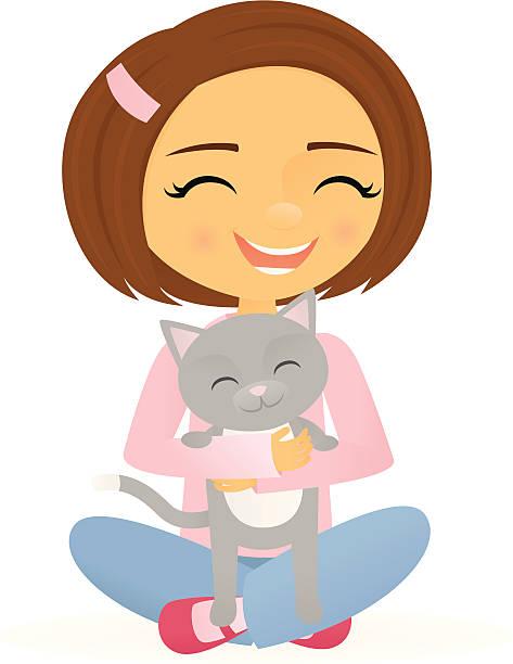 473x612 Girl Holding Cat Clipart Amp Girl Holding Cat Clip Art Images