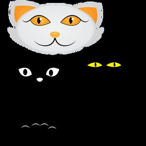 300x300 7970 Cartoon Cat Face Clip Art Public Domain Vectors