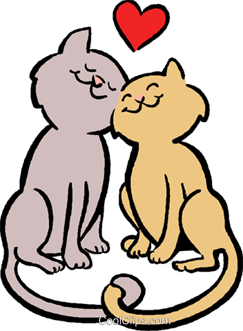352x480 Cats In Love Royalty Free Vector Clip Art Illustration Vc027403