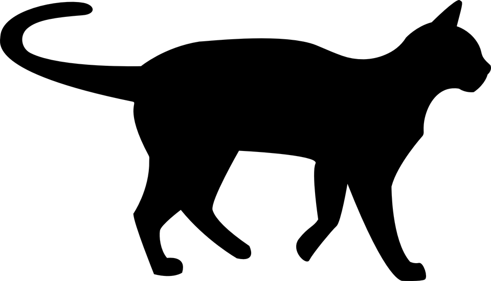 960x551 Black Cat Clipart Transparent